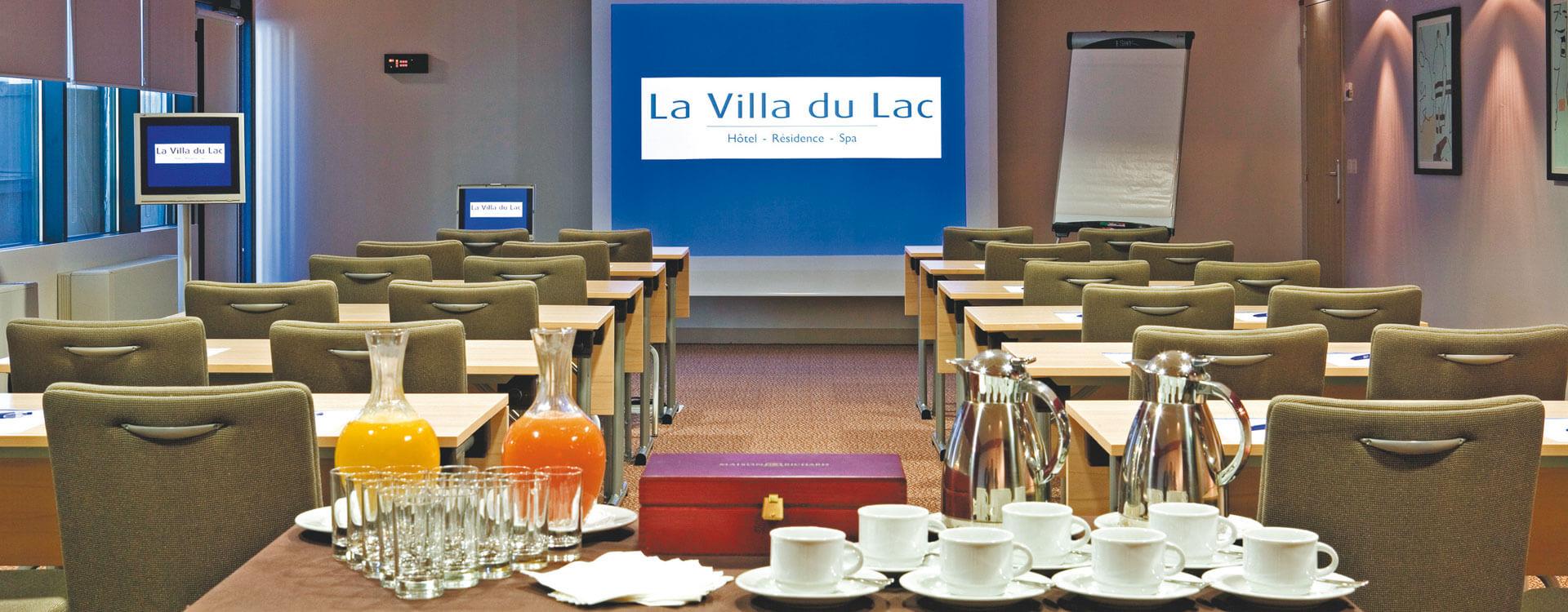 Salles de réunion - Hôtel et résidence La Villa du Lac à Divonne