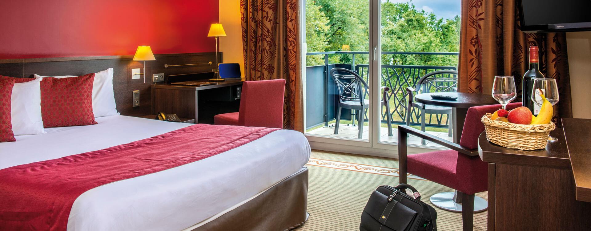 Chambre double - Hôtel et résidence La Villa du Lac à Divonne